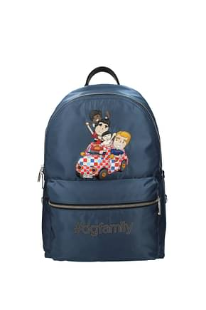 Dolce&Gabbana Backpack and bumbags patch d&g family Men Fabric  Blue
