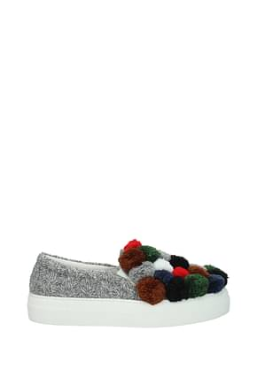 Joshua's Slip on Women Fabric  Multicolor