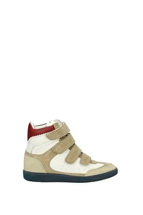 Isabel Marant Sneakers Women Suede White