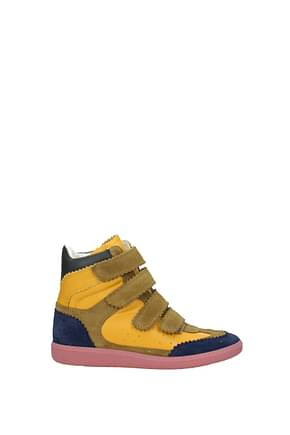 Isabel Marant Sneakers Women Suede Yellow