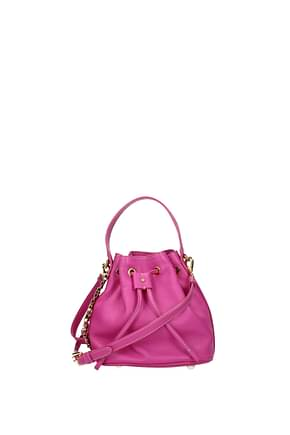Moschino Handbags Women Leather Fuchsia