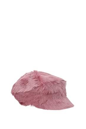 Prada Hats Women Fur  Pink