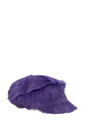 Prada Hats Women Fur  Violet
