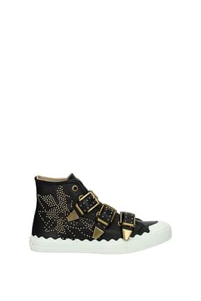 Chloé Sneakers Women Leather Black