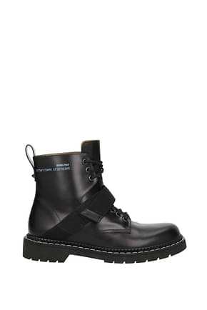 Valentino Garavani Ankle Boot Men Leather Black