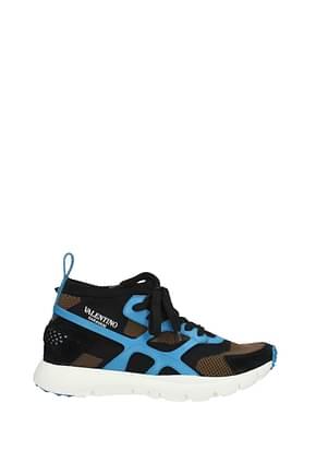 Valentino Garavani Sneakers Homme Tissu Noir Céleste