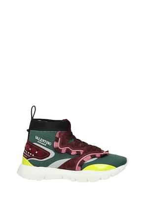 Valentino Garavani Sneakers Hombre Tejido Verde