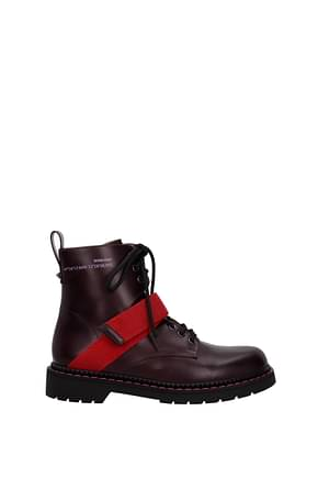 Valentino Garavani Ankle Boot Men Leather Violet