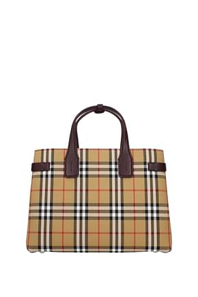 Burberry Handbags Women Fabric  Beige Damson