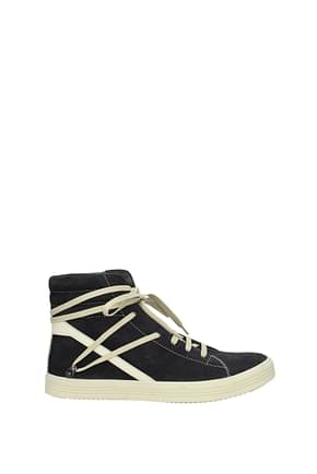 Rick Owens Sneakers Men Suede Black