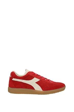 Diadora Heritage Sneakers football Herren Wildleder Rot