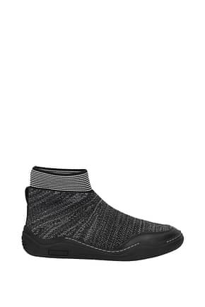 Lanvin Sneakers Herren Stoff Grau