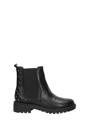 Guess Ankle boots Women Leather Black
