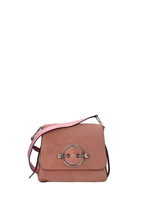 Jw Anderson Crossbody Bag Women Suede Pink