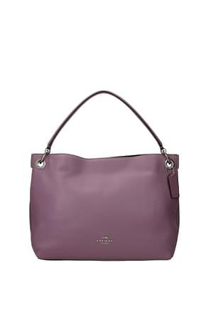 Coach Handbags Women Leather Violet