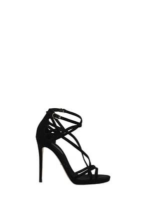 Dolce&Gabbana Sandals keira Women Suede Black