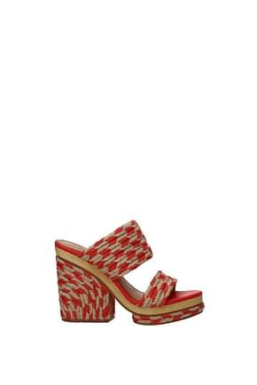 Tory Burch Sandals lola Women Fabric  Red