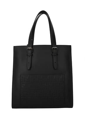 Fendi Men Leather Black