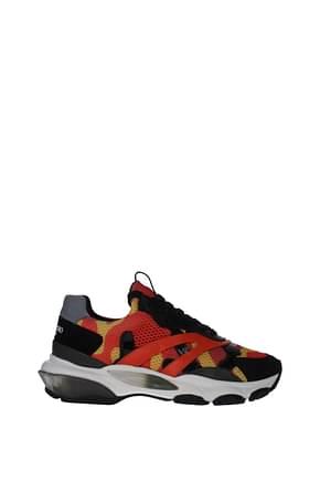 Valentino Garavani Sneakers Men Fabric  Orange