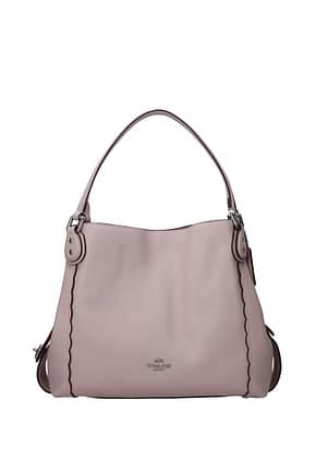 Coach Handbags Women Leather Pink