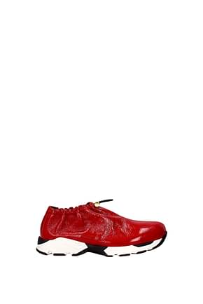 Marni Sneakers Women Patent Leather Red