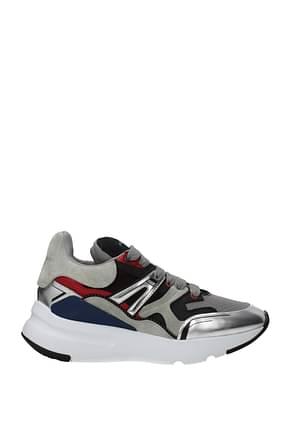 Alexander McQueen Sneakers Homme Suède Gris