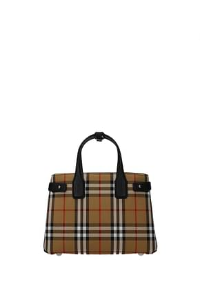 Burberry Handbags Women Fabric  Beige Black