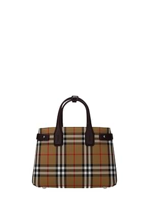 Burberry Handbags Women Fabric  Beige Bordeaux