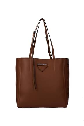 Prada Shoulder bags Women Leather Brown