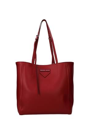 Prada Shoulder bags Women Leather Red
