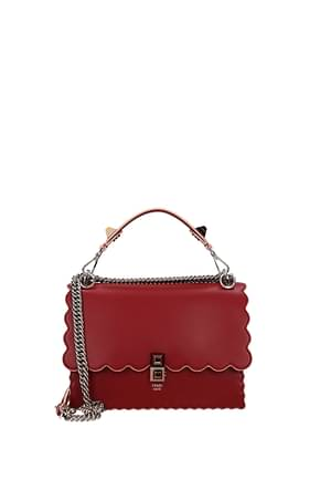 Fendi Handbags kan Women Leather Red