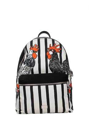 Dolce&Gabbana Backpack and bumbags Men Fabric  White