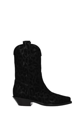 Dolce&Gabbana Botines Mujer Tejido Negro