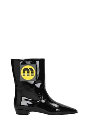 Miu Miu Ankle boots Women Patent Leather Black