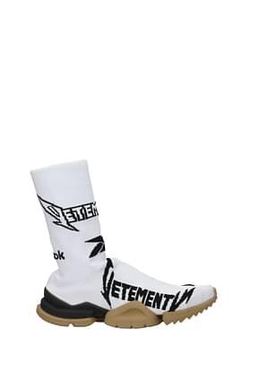 Vetements Design Sneakers reebok Damen Stoff Weiß