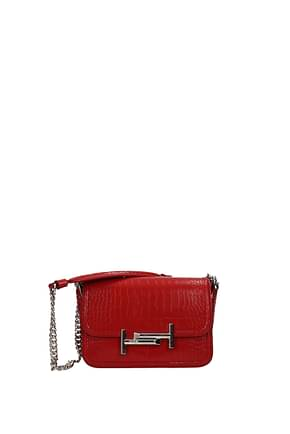 Tod's Shoulder bags Women Leather Red