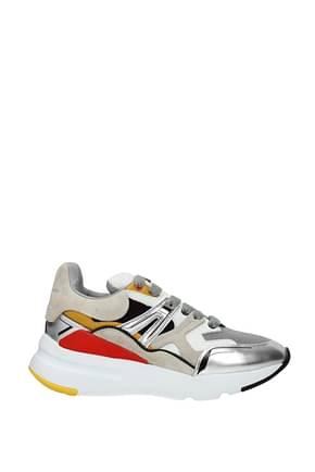 Alexander McQueen Sneakers Hombre Tejido Multicolor