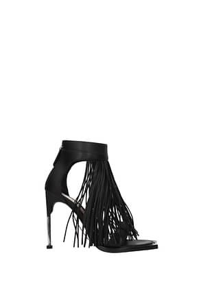 Alexander McQueen Sandals Women Leather Black