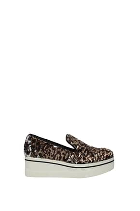 Stella McCartney Slip-On Damen Pailletten Braun