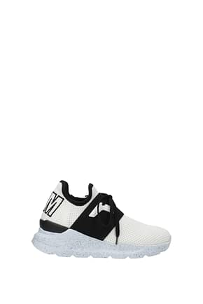 MSGM Sneakers Women Fabric  White