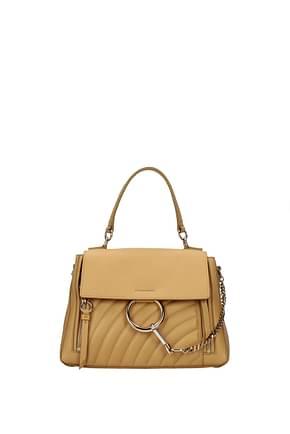 Chloé Handbags Women Leather Beige