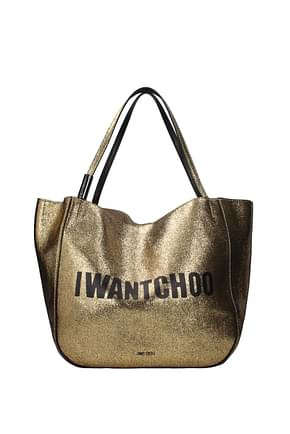 Jimmy Choo Shoulder bags stevie Women Leather Gold