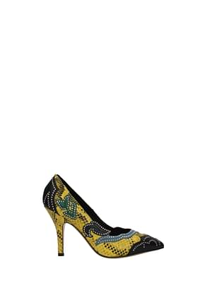 Isabel Marant Pumps Women Leather Yellow Black