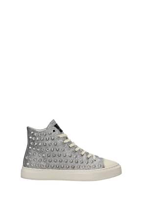 Gienchi Sneakers metal Women Glitter Silver