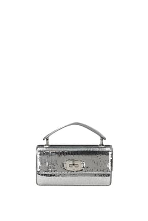 Miu Miu Handbags Women Sequins Silver