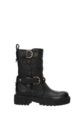 Salvatore Ferragamo Ankle boots bormio Women Leather Black