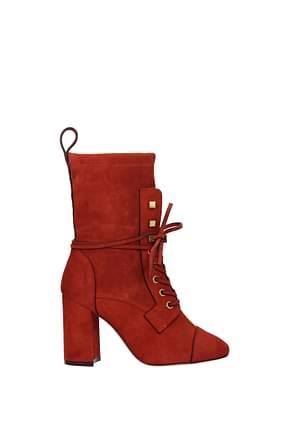 Stuart Weitzman Ankle boots veruka Women Suede Orange