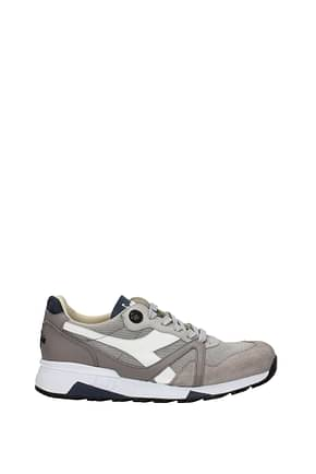 Diadora Heritage Sneakers n9000 Men Fabric  Gray White