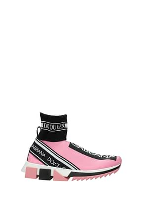Dolce&Gabbana Sneakers Donna Tessuto Rosa