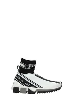 Dolce&Gabbana Sneakers Donna Tessuto Bianco